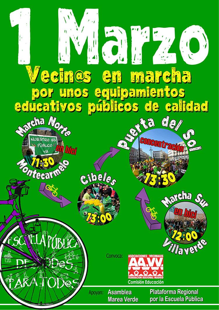 1 de marzo: vecin*s en marcha por la construcción de equipamientos educativos públicos