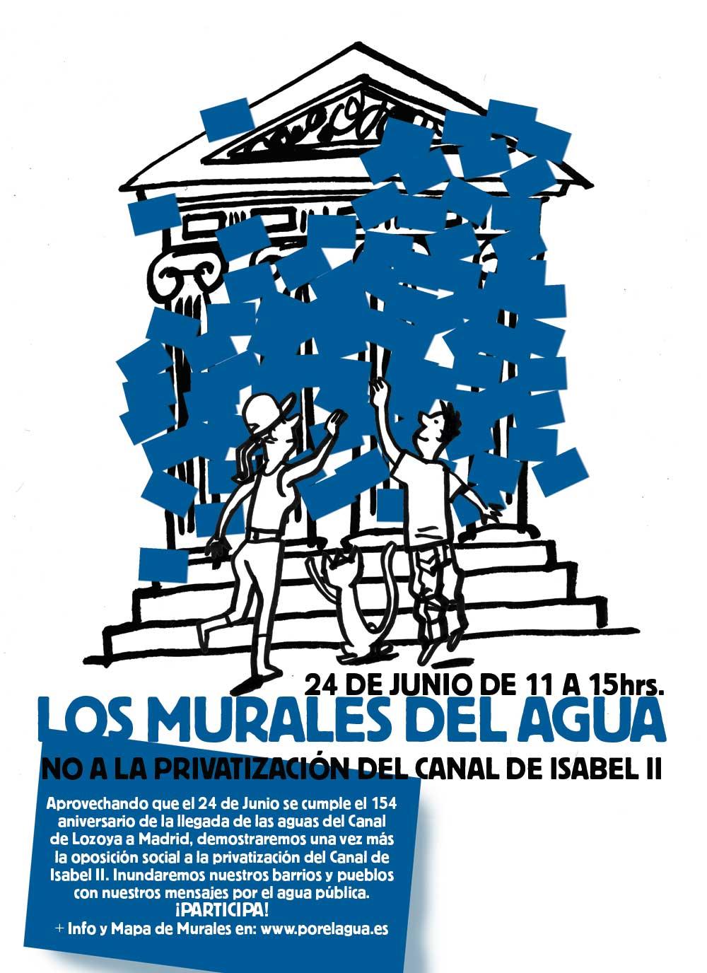 105 murales colectivos reivindicarán un referéndum vinculante sobre la gestión del Canal de Isabel II