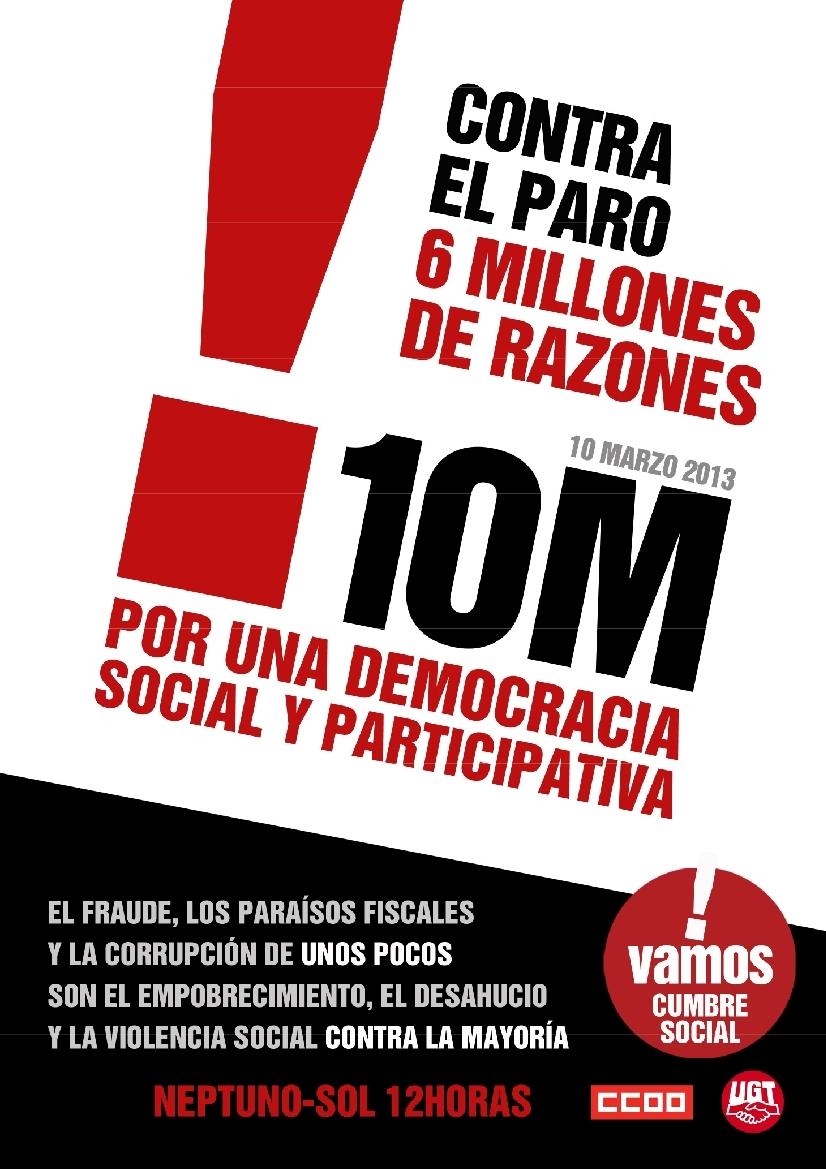 #10M: contra el paro, 6 millones de razones para salir a la calle