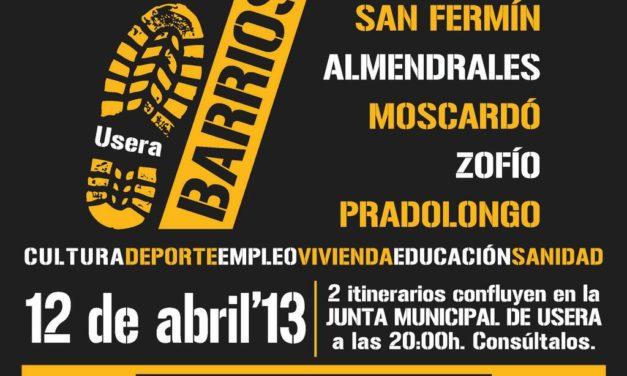 #12 abril: Usera toma la calle con la marcha de los 7 barrios