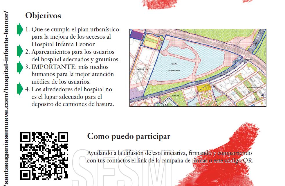 12.000 vecinos reclaman abrir de una vez por todas el paso subterráneo al Hospital de Vallecas