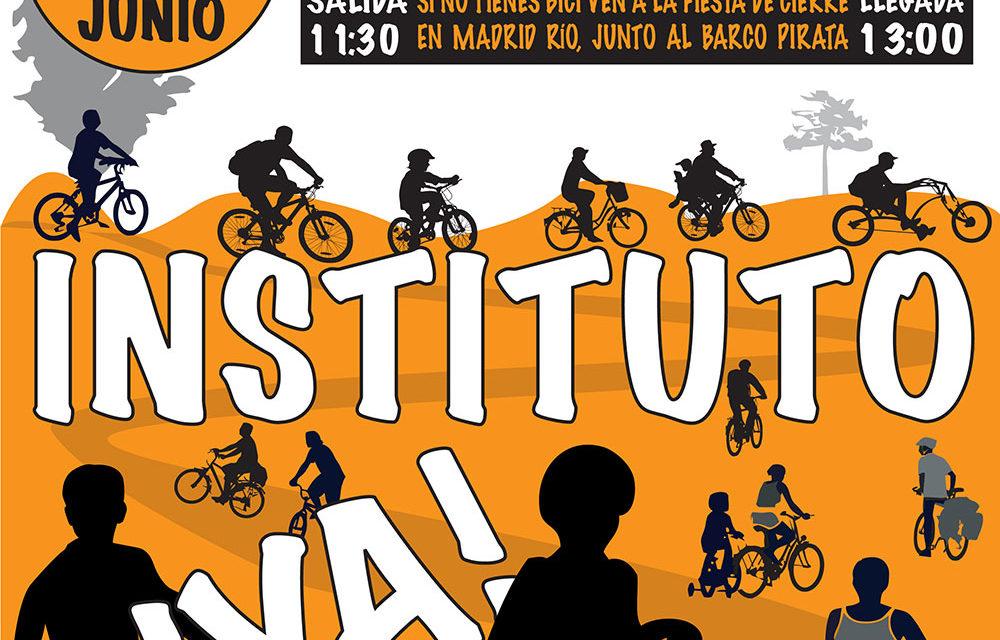14J: VII Marcha Ciclista por la construcción de un instituto en Arganzuela