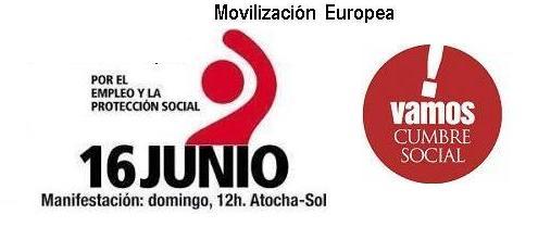 #16J: movilizaciones por una Europa más social y democrática