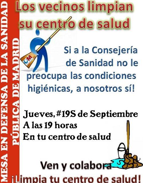 19 S: jornada de limpieza en los centros de salud