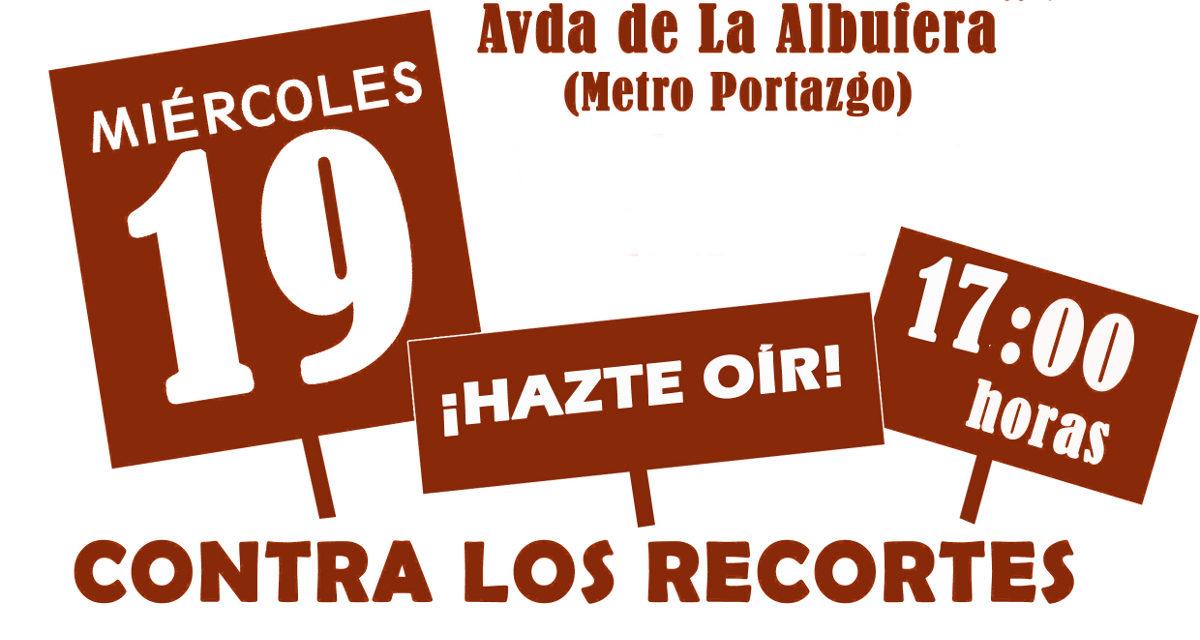 19 dic a las 17h: manifestación contra los presupuestos de los recortes y las privatizaciones