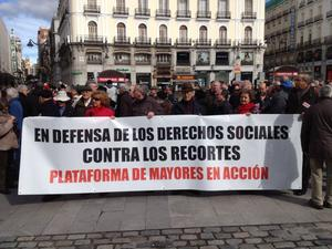 #23M: los mayores salen e la calle para defender el sistema de pensiones y el futuro de los jóvenes