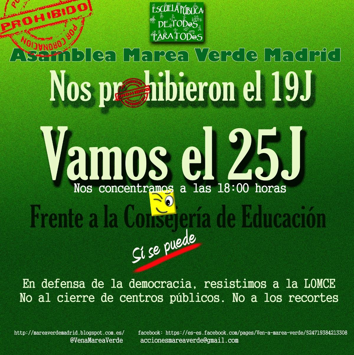 25J: la Marea Verde vuelve a la calle contra los recortes