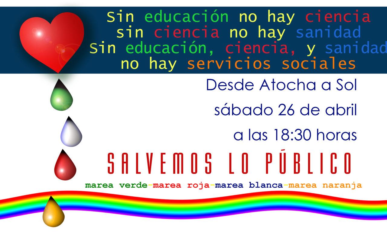 26A: la marea blanca inundará Madrid con las mareas verde, roja y naranja