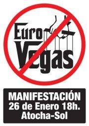 26E: manifestación contra la construcción de Eurovegas