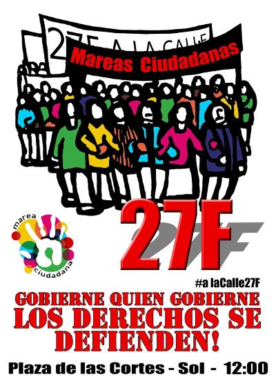 27F: unión de mareas en defensa de las libertades y contra los recortes