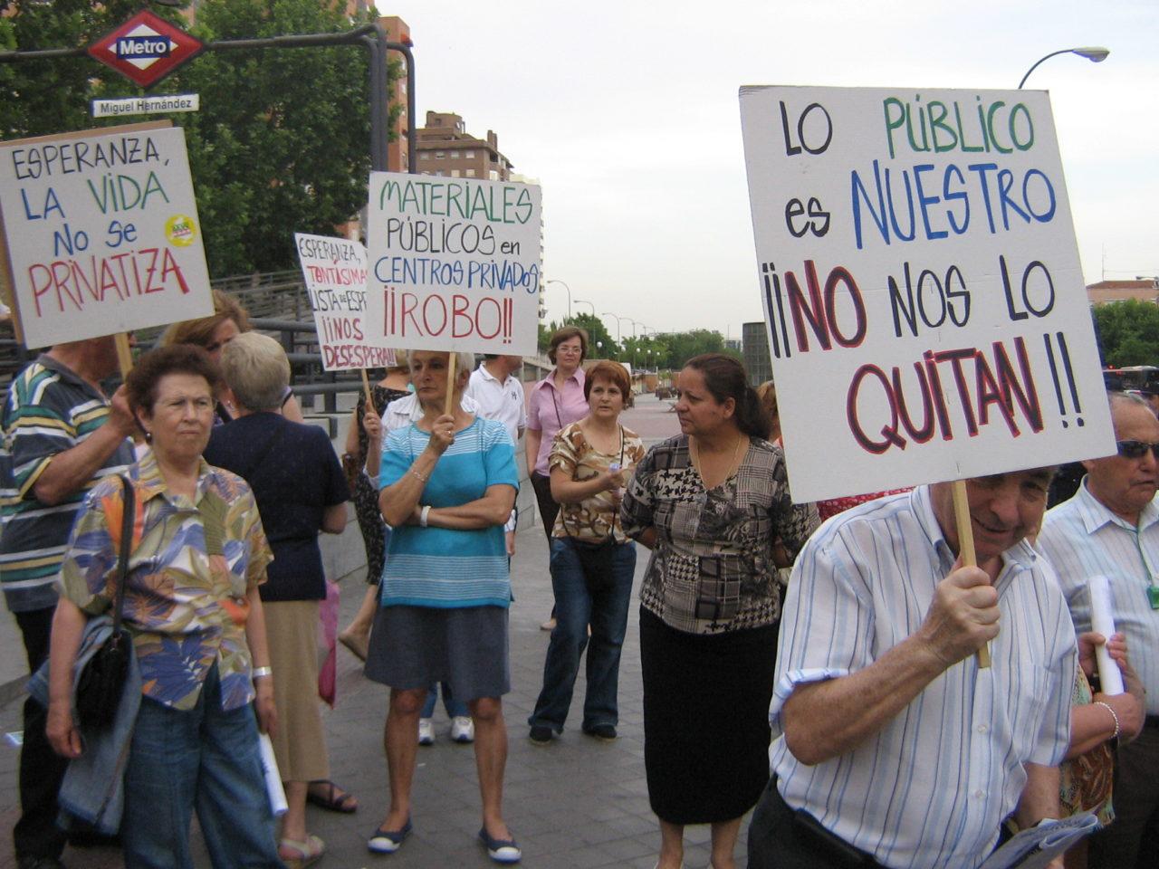 28 de abril: día de lucha vecinal contra la privatización de la sanidad pública
