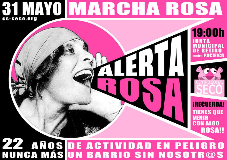 """31 de mayo: el Centro Social Seco activa la """"alerta rosa"""""""