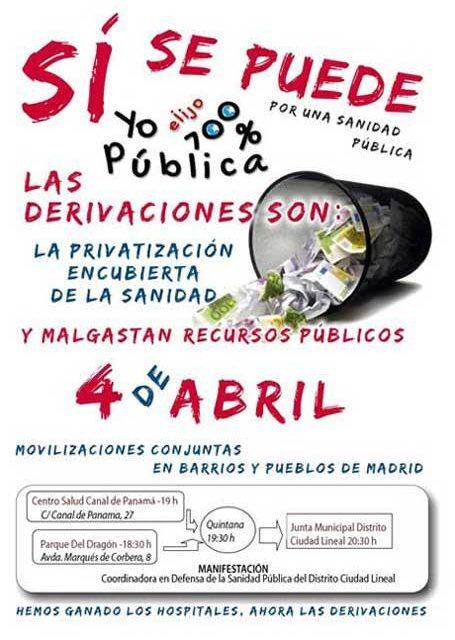 4A: jornada de movilizaciones contra las derivaciones sanitarias