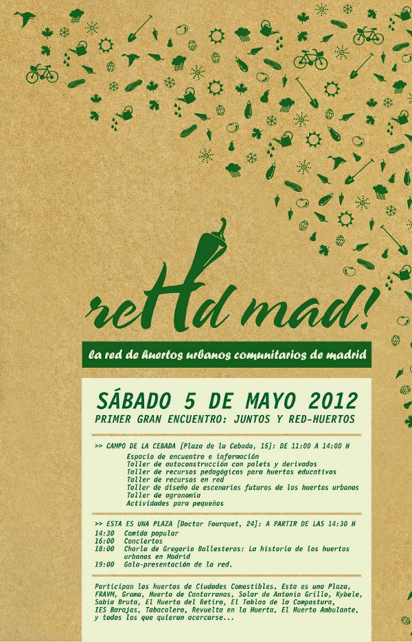 5 de mayo: los huertos urbanos comunitarios siembran la primavera en Madrid