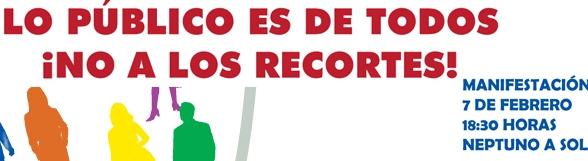 7 de febrero, jornada de movilización contra los recortes sociales