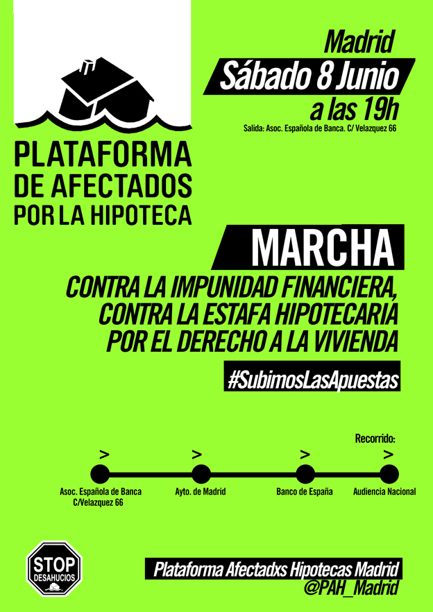 #8J: manifestación contra la impunidad financiera y la estafa hipotecaria