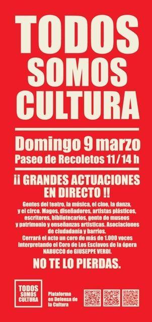 9M: todos somos cultura