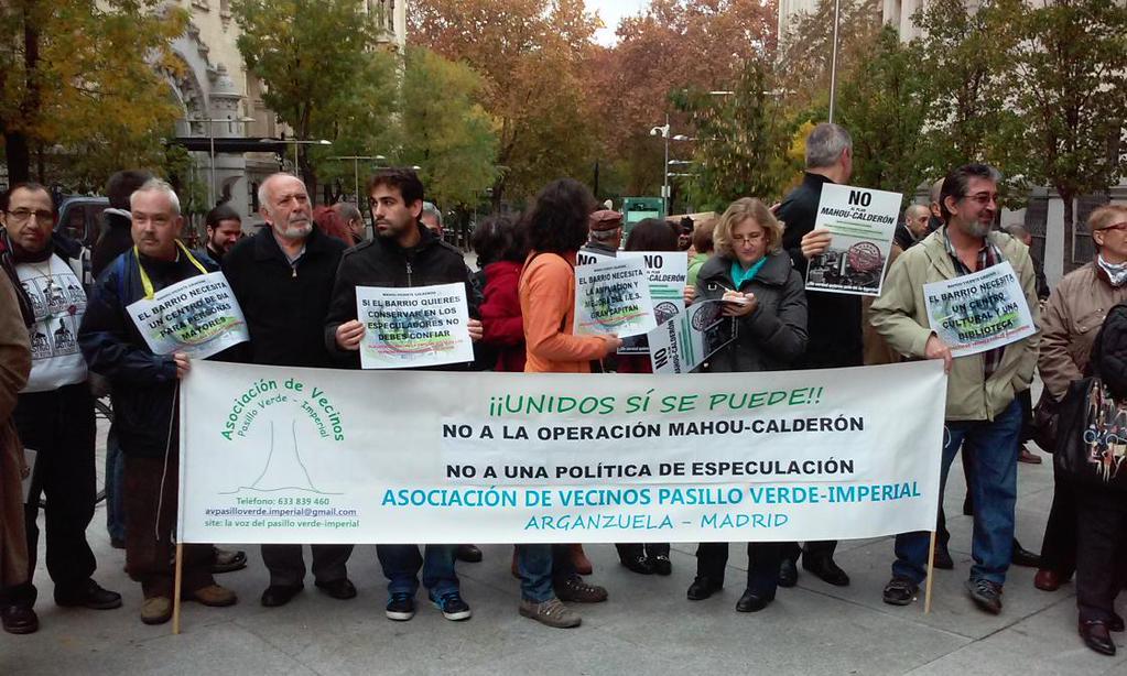 Arganzuela en pie de guerra contra la operación Calderón