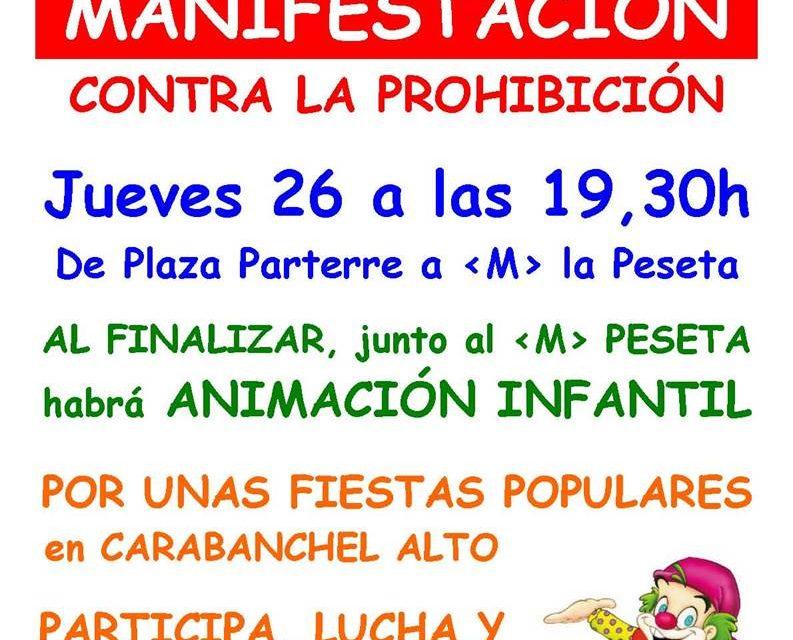 Carabanchel Alto sale a la calle en defensa de las fiestas populares del barrio