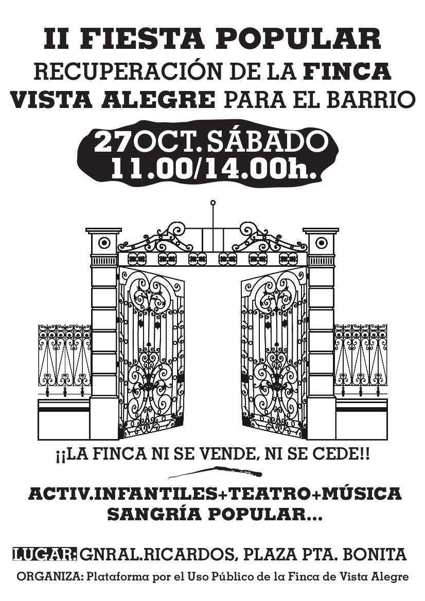 Carabanchel celebra una fiesta para reclamar la recuperación de la Finca de Vista Alegre