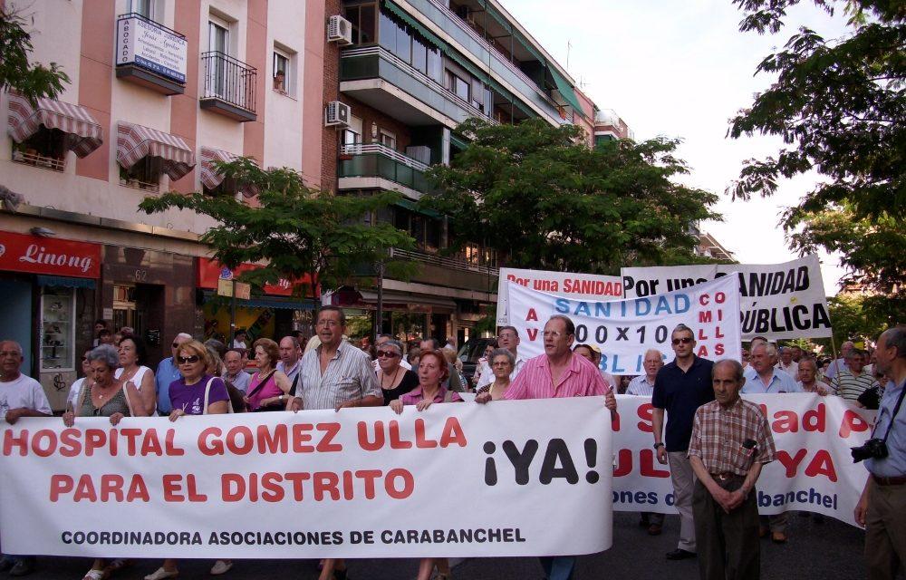 Carabanchel, firme en su defensa del uso civil del hospital militar Gómez Ulla