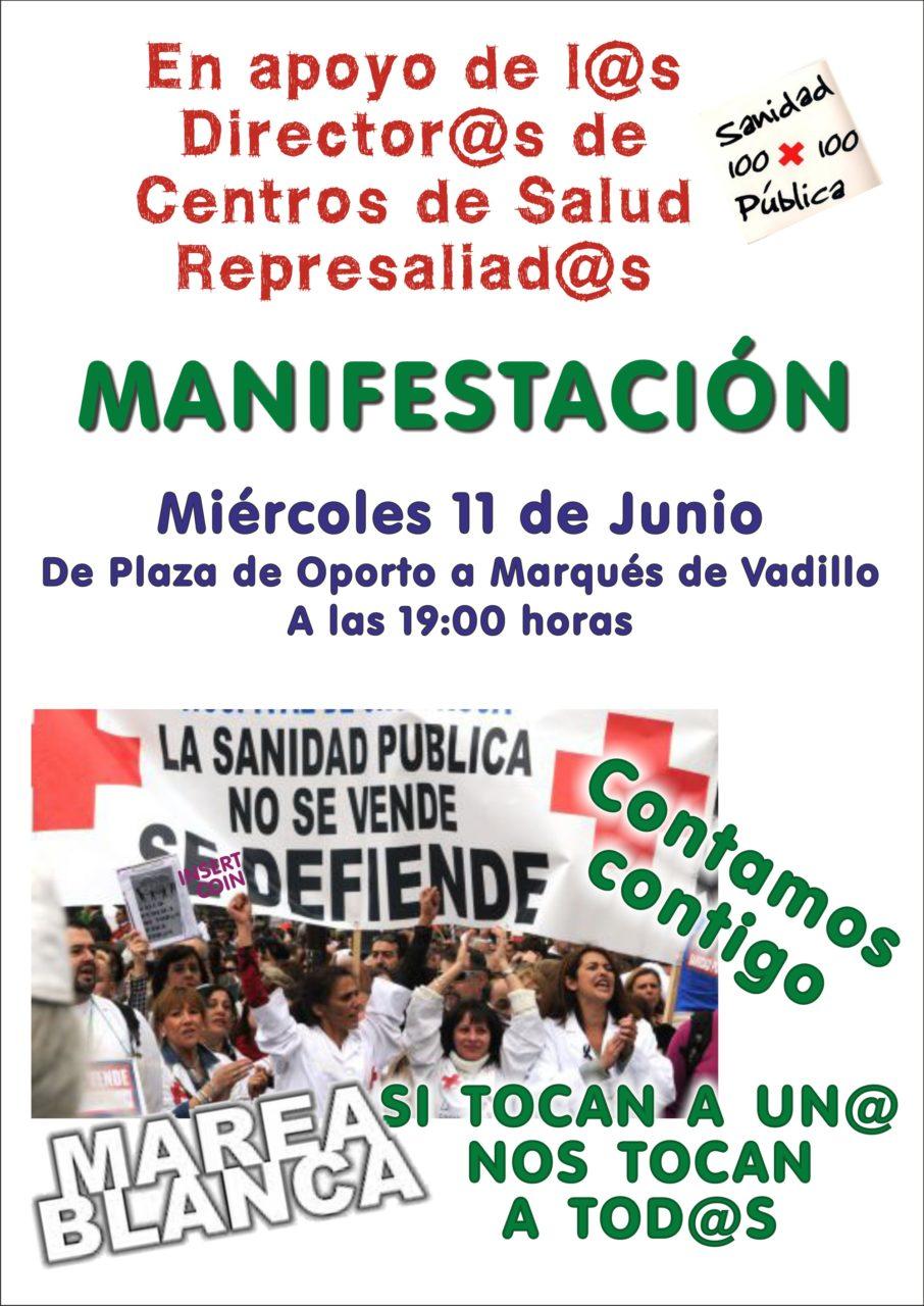 Carabanchel sale a la calle en apoyo a los directores sanitarios represaliados