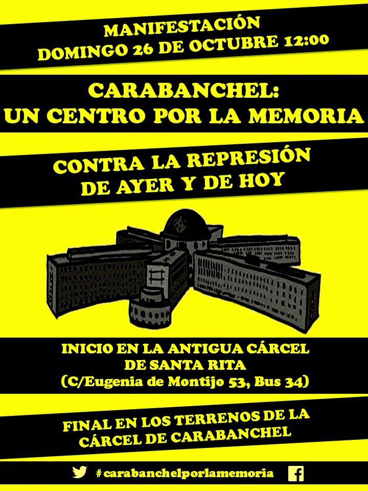 Carabanchel: un centro por la memoria. Contra la represión de ayer y de hoy