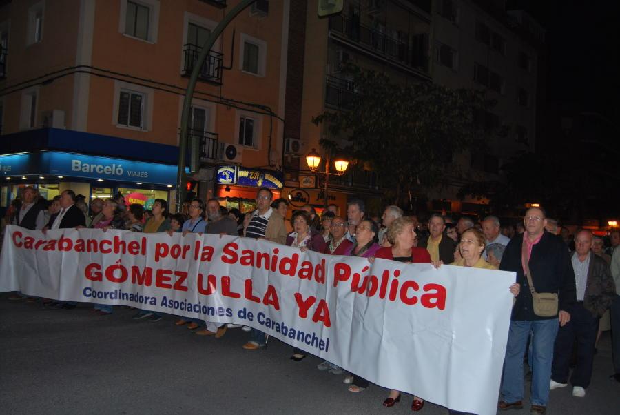 Cientos de carabancheleros reclaman el uso civil del hospital militar Gómez Ulla