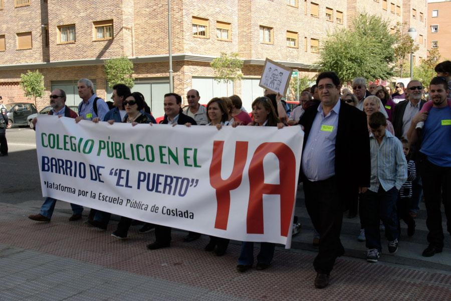 Coslada exige al Gobierno regional la construcción de un colegio público en el Barrio del Puerto