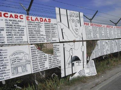 Destrozan parte del Memorial de la cárcel de Carabanchel