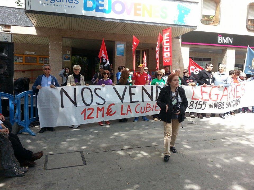El 19 de abril Leganés salió a la calle contra los recortes