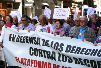 El 25-N, la Marea Pensionista organiza acciones simultáneas en varias ciudades en defensa de las pensiones públicas