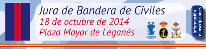 El Ayuntamiento de Leganés organiza una jura de bandera para civiles españoles