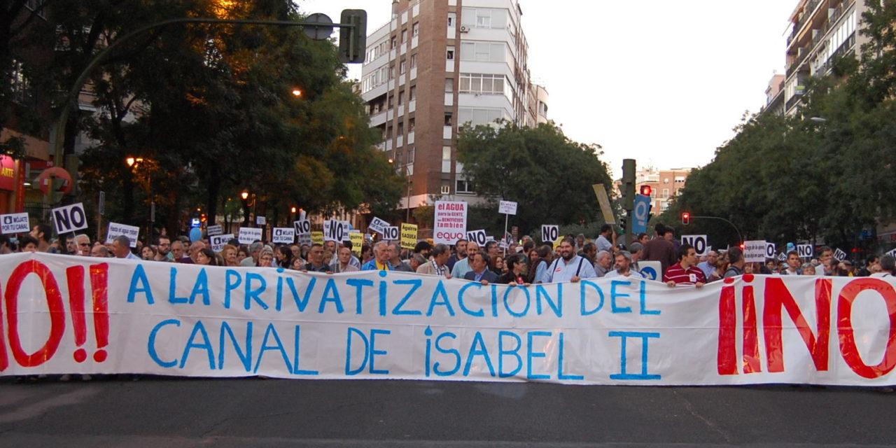 El Ayuntamiento de San Fernando aprueba la cuarta Iniciativa Legislativa Municipal contra la privatización del Canal de Isabel II