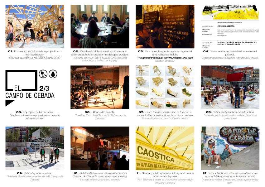 El Campo de la Cebada, finalista del Premio Europeo del Espacio Público Urbano 2012