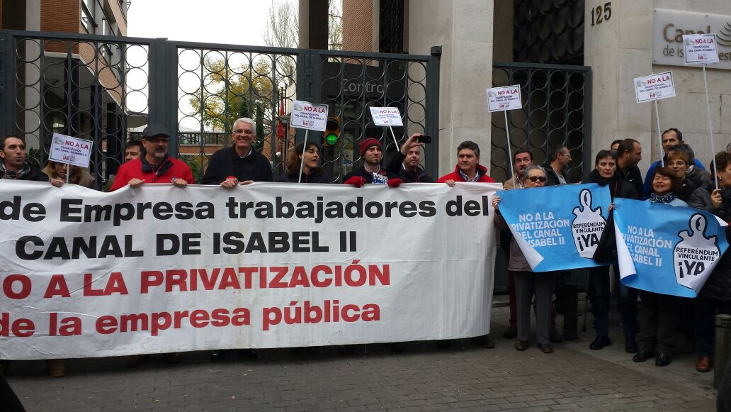 El Canal de Isabel II acelera el proceso de privatización