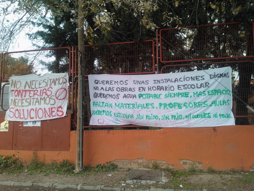 El IES Ciudad de Jaén de Villaverde-Usera en lucha contra la masificación y las deficiencias de las instalaciones