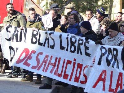 El movimiento ciudadano de San Blas vuelve a protestar contra los desahucios