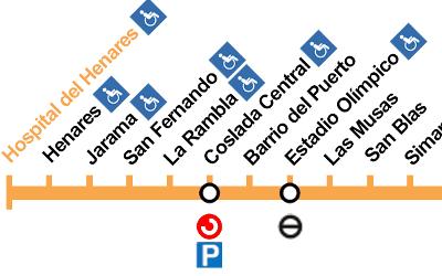 """El """"tren de la bruja"""" llega al metro en San Fernando"""