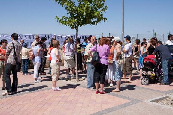 El vecindario del PAU de Vallecas reclama la inmediata construcción de una comisaría