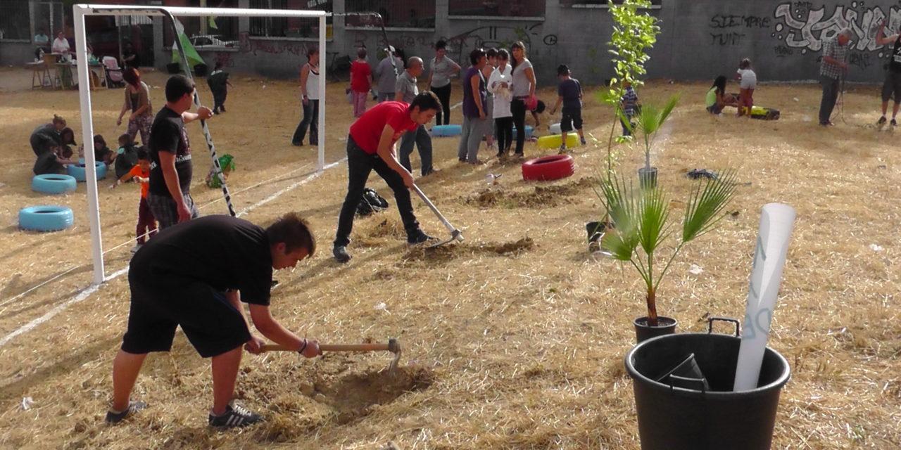 El vecindario del Triángulo del Agua recupera el Campo Azul