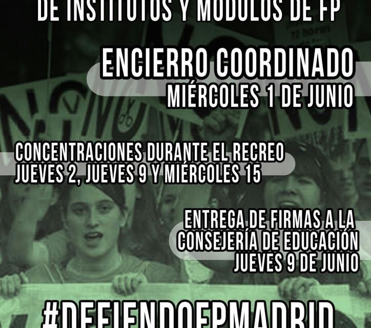 Encierro en seis institutos para protestar por la eliminación de ciclos de FP