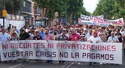 Éxito de participación en la protesta de las comarcas del sur contra los recortes