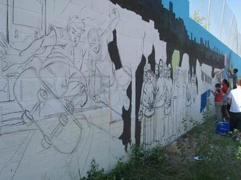 Hortaleza graba su autorretrato en los muros del distrito