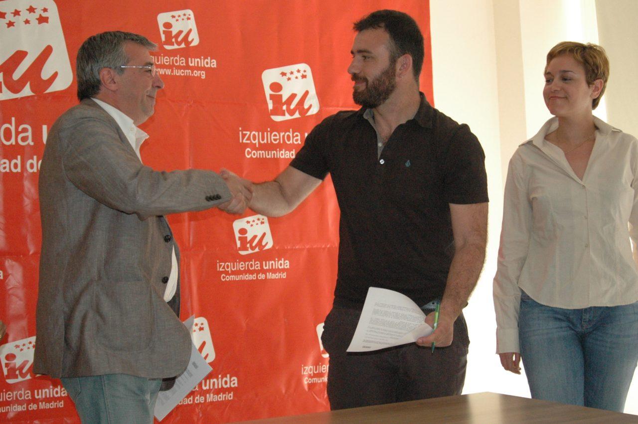 IU y la FRAVM firman un acuerdo de cara a las elecciones autonómicas