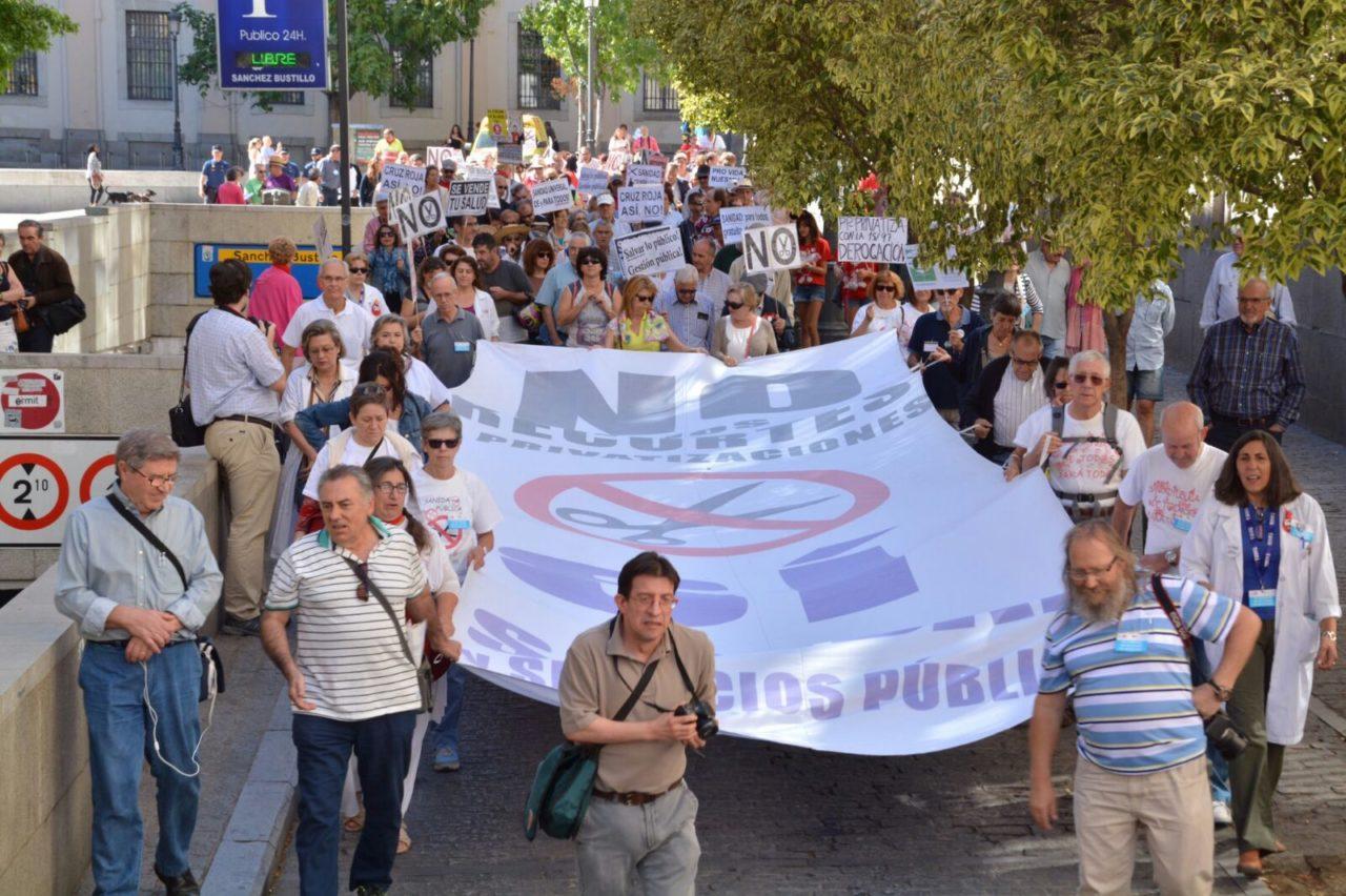 La 48ª Marea Blanca critica la falta de transparencia de la sanidad pública
