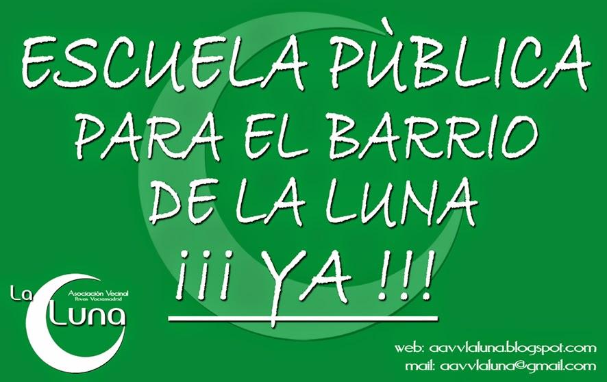 La AV La luna lanza una campaña ficticia de matriculación en la escuela pública en Rivas