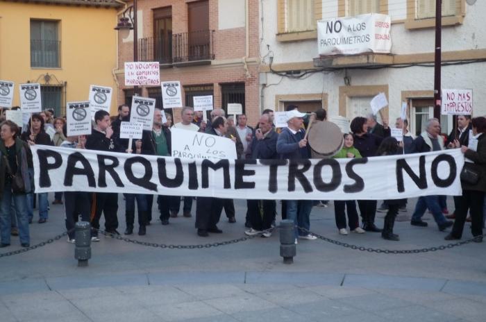La AV San Sebastián de los Reyes, contra la instalación de parquímetros