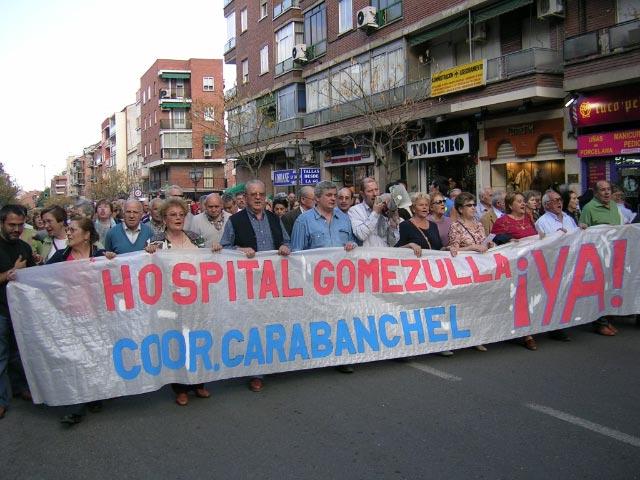 La Coordinadora de Carabanchel invita a sus vecinas y vecinos a que reclamen el Gómez Ulla como hospital de referencia