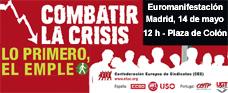 La FRAVM apoya la euromanifestación sindical de hoy en Madrid